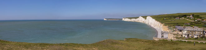 Seven Sisters Chalk Cliffs in East Sussex Royalty Free Stock Photography