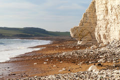 Seven Sisters chalk cliffs, England. Royalty Free Stock Photo