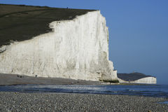 Seven Sisters Chalk Cliffs Pebble Beach Sussex Uk Royalty Free Stock Photos