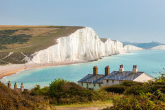 Seven Sisters Chalk cliffs from Seaford Head Stock Image