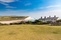 Seven Sisters Chalk cliffs from Seaford Head Royalty Free Stock Photography