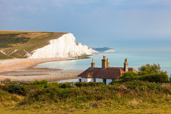Seven Sisters Chalk cliffs from Seaford Head Royalty Free Stock Photo