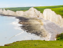 Seven Sisters chalk cliffs, Seven Sisters National Park Royalty Free Stock Photos