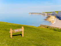 Seven Sisters chalk cliffs, Seven Sisters National Park Royalty Free Stock Image