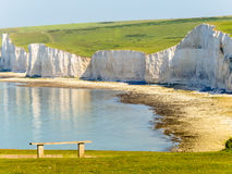 Seven Sisters chalk cliffs, Seven Sisters National Park Stock Photography