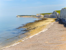 Seven Sisters chalk cliffs, Seven Sisters National Park Royalty Free Stock Images