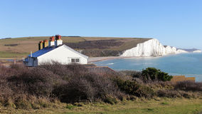 Seven Sisters cliff in East Sussex England Royalty Free Stock Photo