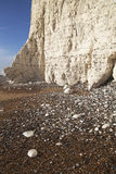 Seven Sisters cliff in East Sussex, England. Royalty Free Stock Image