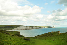 Seven sisters cliff in England. Image was taken on July 2012 near Seaford in Sussex Royalty Free Stock Image
