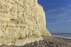 Seven sisters cliff, English Channel. Stock Photos