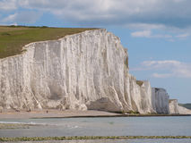 Seven Sisters Cliff on a sunny day stock photo