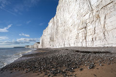 Seven Sisters cliffs at Birling Gap beach Royalty Free Stock Photography