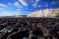 Seven sisters cliffs,coastal landscape in England royalty free stock photos
