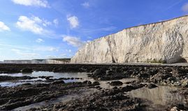 Seven sisters cliffs,coastal landscape in England royalty free stock image