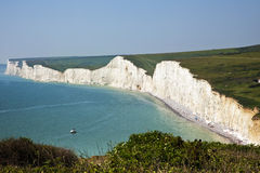 Seven Sisters cliffs, East Sussex, England Stock Photography