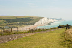 Seven Sisters Cliffs in East Sussex, England Stock Photos