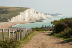 Seven Sisters Cliffs in East Sussex, England Stock Images