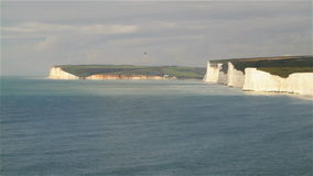 Seven Sisters Cliffs in East Sussex stock footage