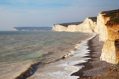 Seven Sisters cliffs, England, UK. Royalty Free Stock Photos
