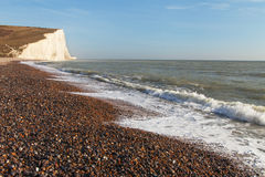 Seven Sisters cliffs, England, UK. Royalty Free Stock Photo