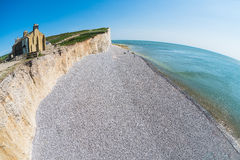 Seven Sisters cliffs fisheye Royalty Free Stock Photos