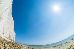 Seven Sisters cliffs fisheye Royalty Free Stock Image