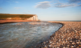 Seven Sisters Cliffs South Downs England landscape Royalty Free Stock Photo