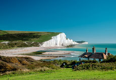 Seven Sisters cliffs at Sussex Stock Photos