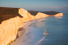 Seven Sisters cliffs, UK. Royalty Free Stock Photography
