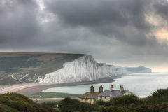 Seven Sisters Cliffs, United Kingdom, England stock photography