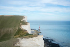 Seven Sisters country park and Beachy Head lighthouse. Seven Sisters country park and Beachy Head lighthouse in England Royalty Free Stock Photos