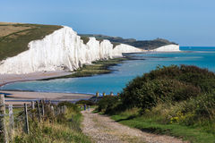 SEVEN SISTERS COUNTRY PARK, EAST SUSSEX/UK - AUGUST 15 : Seven S Royalty Free Stock Image