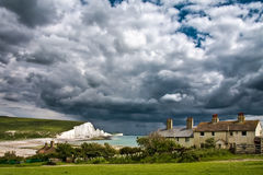 SEVEN SISTERS COUNTRY PARK, EAST SUSSEX/UK - JUNE 12 : Storm brewing over the Seven Sisters in East Sussex on June 12, 2008 royalty free stock image