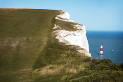 Seven Sisters Country Park near the Belle Tout lighthouse, UK, Stock Photo