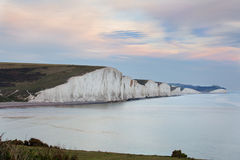 Seven Sisters, giant sea cliffs in East Sussex Stock Photography