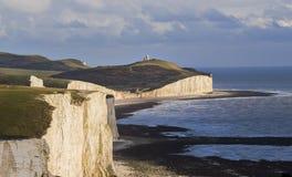 Seven Sisters Landscape Sea front Brighton Stock Image