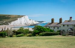 Free Seven Sisters National Park, White Cliffs,beach,ocean East Sussex, England Royalty Free Stock Images - 191934899