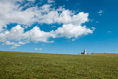 Seven Sisters National park, white cliffs, Belle Tout lighthouse, East Sussex, England Stock Photos