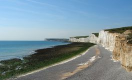 Seven Sisters near of Newhaven Stock Photos