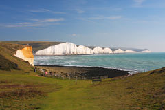 The Seven Sisters in Sussex Stock Photos