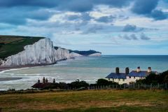Seven Sisters United Kingdom. Taken in 2017 taken in HDR Stock Photos