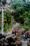 Seven Sisters Water Falls, Menrong Gong, North Sikkim Royalty Free Stock Images