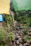 Seven Sisters Water Falls, Menrong Gong, North Sikkim. The Seven Sister waterfalls a prominent spot for tourist travelling to Mangan is located 32 km away from Royalty Free Stock Photo