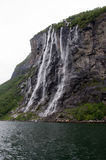 Seven Sisters waterfall in Geiranger Royalty Free Stock Photo