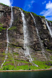 Seven sisters waterfall, norway Royalty Free Stock Photos