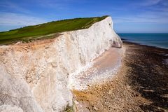 Seven Sisters white chalk cliffs near Seaford East Sussex South stock photography