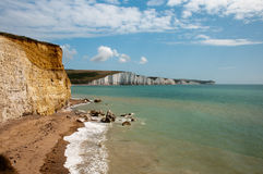 The Seven Sisters white cliff Stock Photos