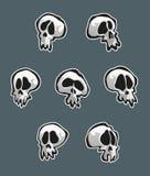 Seven Skulls Stock Photo