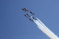 Seven Snowbirds in formation Stock Photo