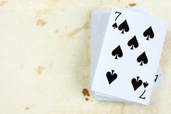 Seven of spades playing card Royalty Free Stock Image